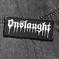 ONSLAUGHT - Logo 120X50 mm (embroidered patch)
