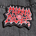 MORBID ANGEL - White+Red Logo 95X70 mm (embroidered patch)