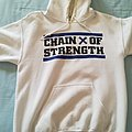"""Chain Of Strength - Hooded Top - Chain Of Strength """"Has the edge gone dull?"""""""