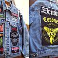 Jacket with mostly vintage metal bands