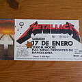 Metallica , European master of puppets tour 1987