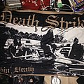 Fuckin' Death flag, signed by Paul Speckmann