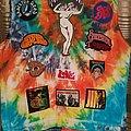 Aphrodite's Child - Battle Jacket - Tie'n'dye psychedelic rock jacket