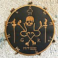 Official embroidered faux leather sigil back patch