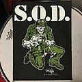 Vintage S.O.D. back patch
