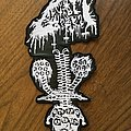 Reek Of The Unzen Gas Fumes - Patch - Faux leather embroidered back patch