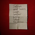 Reactory setlist Other Collectable