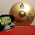 Signed and used Municipal Waste cymbal  Other Collectable