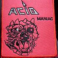 Acid Maniac embroidered patch