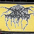 Darkthrone logo golden woven patch