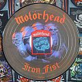 Motörhead iron fist vynil records and vintage patch