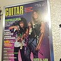 Metallica James Hetfield kirk Hammett Signed guitar magazine