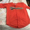 orange  baseball jersey large