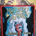 Morbid Saint - Patch - Morbid Saint - Spectrum of Death red border woven patch