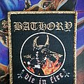 Bathory - Patch - Bathory - Die In Fire woven golden border patch