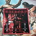 Bathory - Under the Sign of the Black Mark red border patch