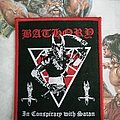 Bathory - In Conspiracy With Satan red border woven patch