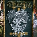 Grotesque - Patch - Grotesque - In the Embrace of Evil gold border woven patch