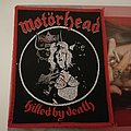 Motörhead - Killed By Death red border woven patch