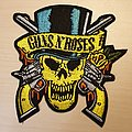 Guns N' Roses - Patch - Guns n' Roses Top Hat Skull Patch