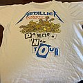 Vintage 1986 Metallica Damage Inc. Shirt in White.