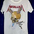 Metallica - TShirt or Longsleeve - 1986 Metallica Damage Inc. Tour Shirt in White.