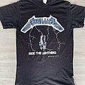 Metallica - TShirt or Longsleeve - 1984 Metallica Ride The Lightning Metal Militia Fan Club Shirt.