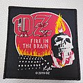 OZ - Fire In The Brain Official Woven Patch