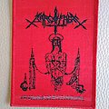 "SARCOFAGO ""Nazarenus Torment""    ( Red Border)  Size : 8 cm x 10,5 cm"