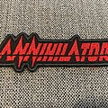 Annihilator Embroidered Logo Patch