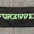 Forbidden - Patch - Forbidden Embroidered Logo Patch