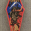Cancer - Patch - Cancer -  Death Shall Rise Woven Coffin Patch