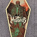 Mortuous - Patch - Mortuous - Through Wilderness Official Woven Coffin Patch