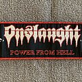 Onslaught - Patch - Onslaught - Power From Hell Woven Strip Patch