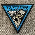 Razor - Executioner's Song Official Woven Triangle Patch