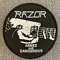 Razor - Patch - Razor - Armed And Dangerous Official Woven Circle Patch