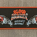 Blood Money - Patch - Blood Money - Red, Raw and Bleeding! Official Woven Superstrip Patch