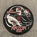Razor - Evil Invaders Official Woven Circle Patch