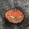 Helloween - Patch - Helloween embroidered Pumpkin