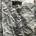 Beartooth - Other Collectable - Beartooth - Below Tour setlist
