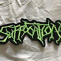 Suffocation green logo Patch