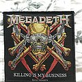 Megadeth - Patch - Megadeth - Killing is My Business official patch