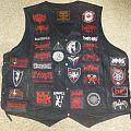 black metal war vest