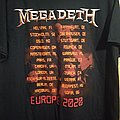 Megadeth 2020 tour t-shirt