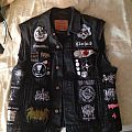 Finished black metal vest