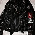 Super Duper Black Metal Trooper Vest With True Norwegian Leather Jacket