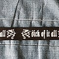 Sick Of It All - Other Collectable - Sick of it All - Belt
