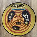 Anthrax - Patch - Original 1988 State Of Euphoria Circle Backpatch