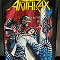 Anthrax - Patch - Original 1986 Bootleg Anthrax - Spreading The Disease Backpatch