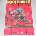 Iron Maiden A Real Live One poster flag